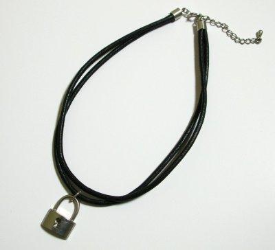 画像1: 皮二連ネックレス2