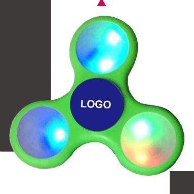 画像1: ハンドスピナー【樹脂製:LEDライト付き:オリジナルロゴ入れ可】 (1)