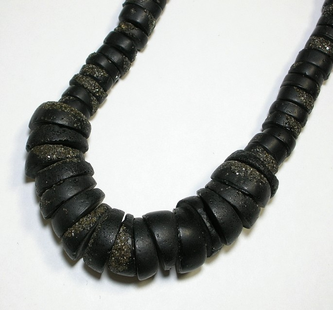 画像1: 砂入樹脂ネックレス (1)