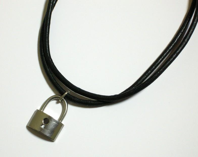 画像1: 皮二連ネックレス2 (1)